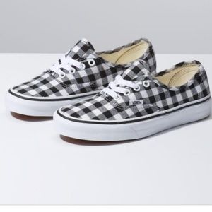 vans true authentic gingham black & white checker